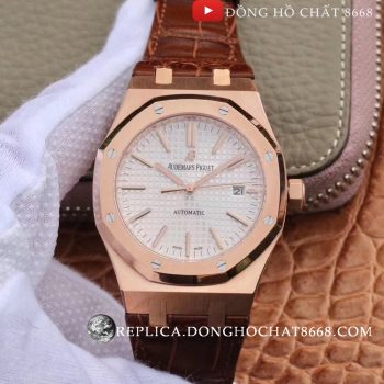 Đồng hồ Audemars Piguet Geneve Royal Oak 15400 White Dial Rose Gold