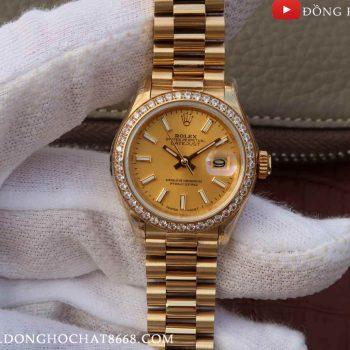 Đồng Hồ Rolex Oyster Perpetual Datejust Gold Replica 1:1 Cao Cấp Nhất